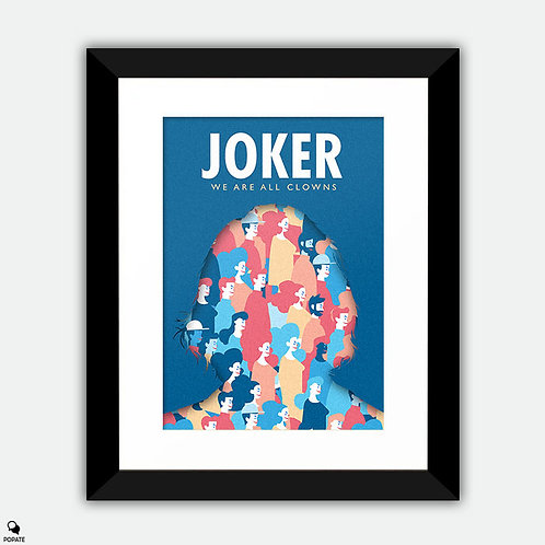 Joker Alternative Framed Print - We Are All Clowns