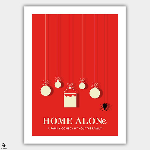 Home Alone Minimalist Poster - Christmas Ornaments