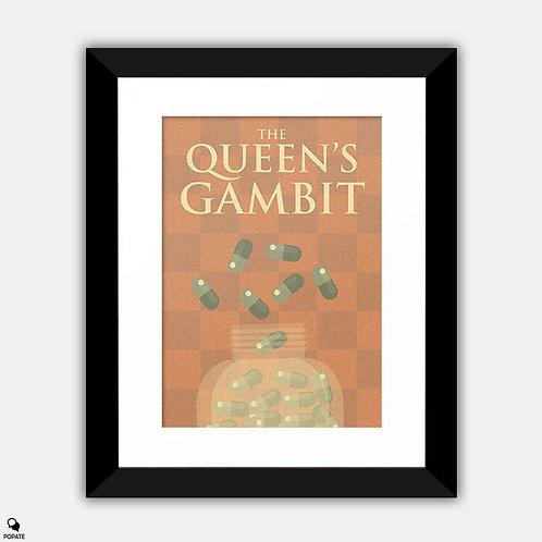 The Queen's Gambit Minimalist Framed Print
