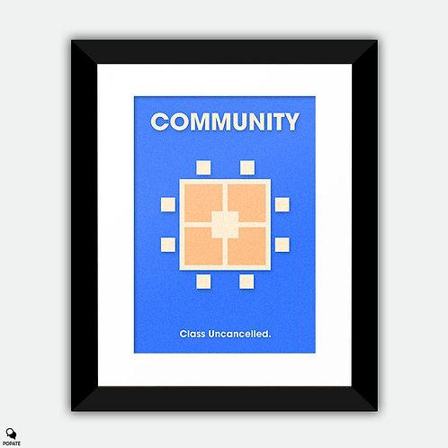 Community Minimalist Framed Print