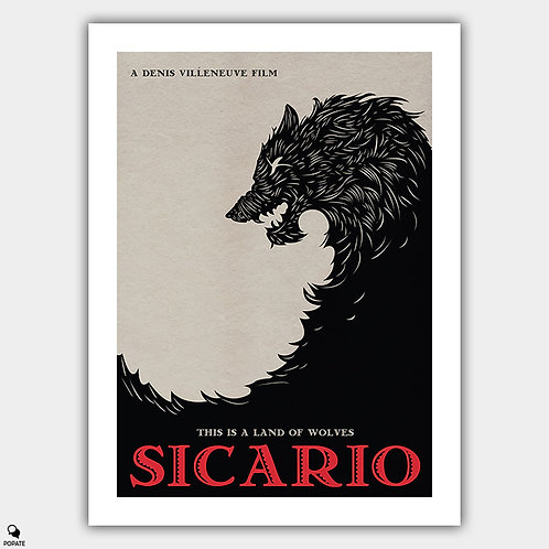 Sicario Alternative Minimalist Poster