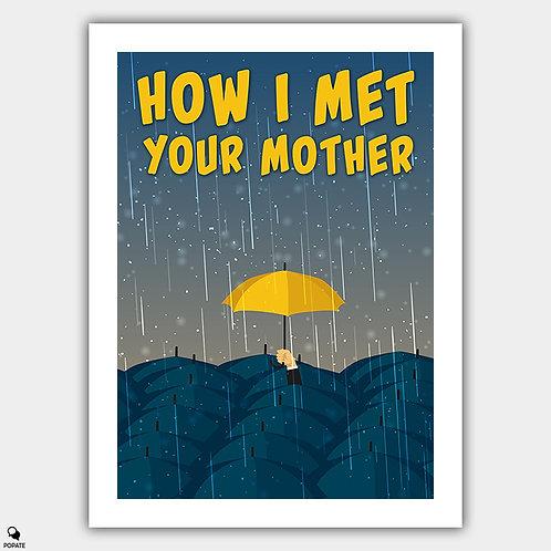 How I Met Your Mother Minimalist Poster - Umbrella