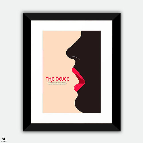 The Deuce Minimalist Framed Print - Lips