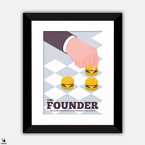 The Founder Minimalist Framed Print - Strategy