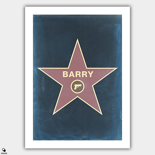 Barry Minimalist Poster - Hollywood Walk of Fame