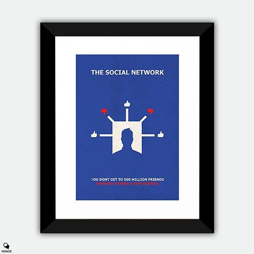 The Social Network Alternative Minimalist Framed Print - Dislike