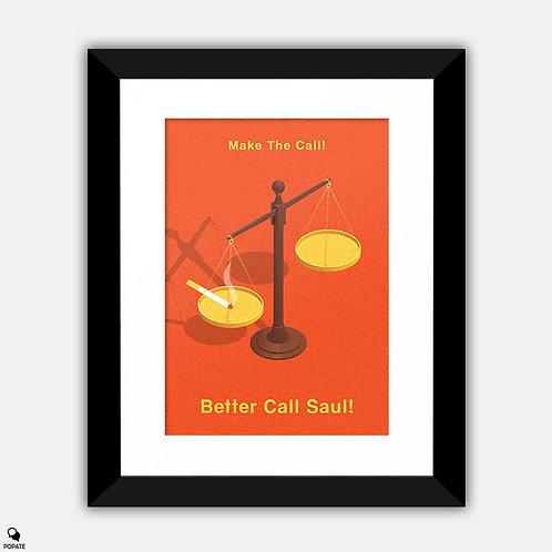 Better Call Saul Minimalist Framed Print - Scales