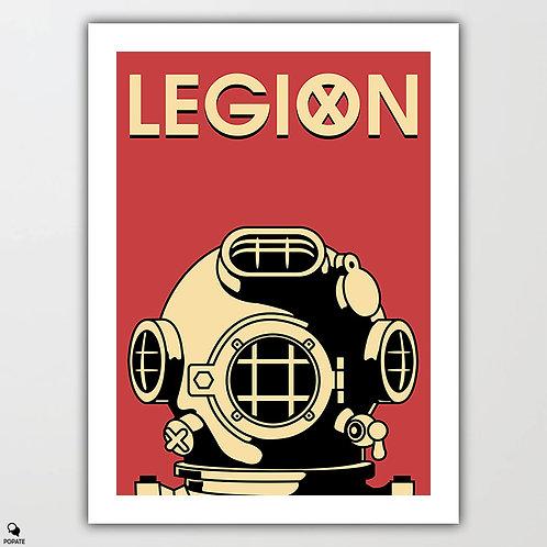 Legion Alternative Vintage Poster - Man In The Suit