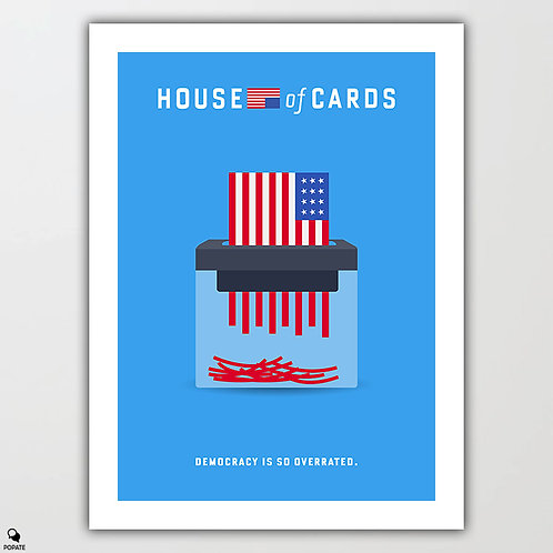House of Cards Minimalist Poster