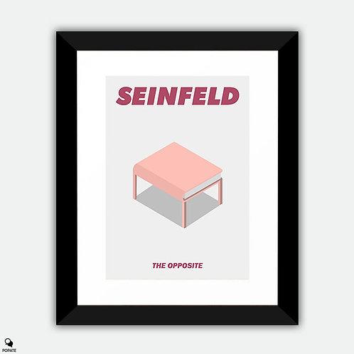 Seinfeld Minimalist Framed Print - The Opposite