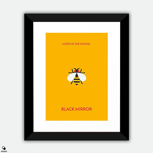 Black Mirror Minimalist Framed Print - Hated in the Nation