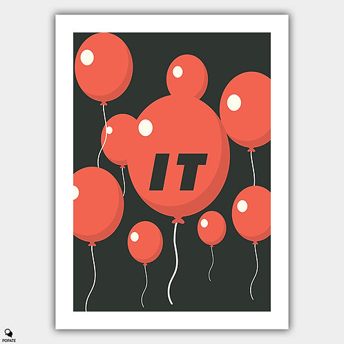 IT Minimalist Poster - Balloon Float