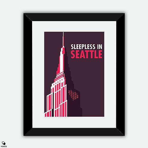 Sleepless in Seattle Minimalist Framed Print