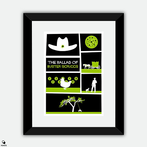 The Ballad of Buster Scruggs Saul Bass Style Vintage Framed Print