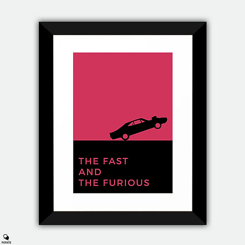 The Fast And The Furious Minimalist Framed Print