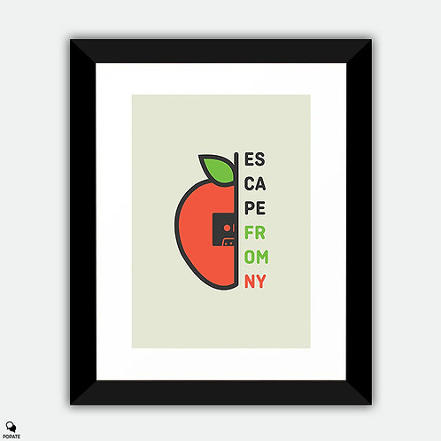 Escape From New York Minimalist Framed Print