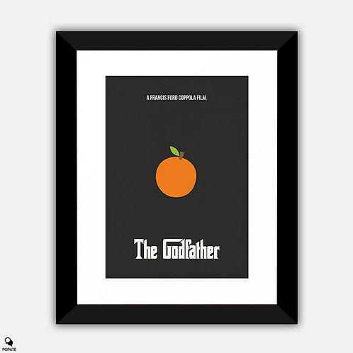 The Godfather Minimalist Framed Print - Orange