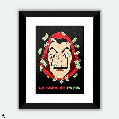 La Casa De Papel Minimalist Framed Print