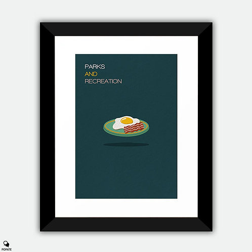 Parks And Recreation Minimalist Framed Print - Bacon & Eggs
