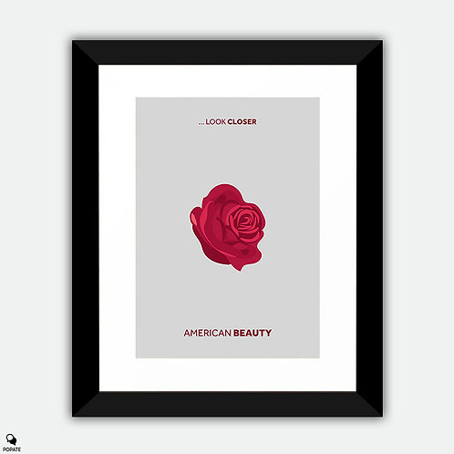 American Beauty Minimalist Framed Print - Rose