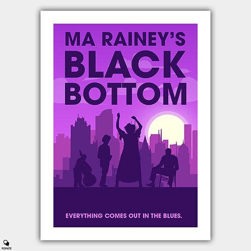 Ma Rainey's Black Bottom Minimalist Poster