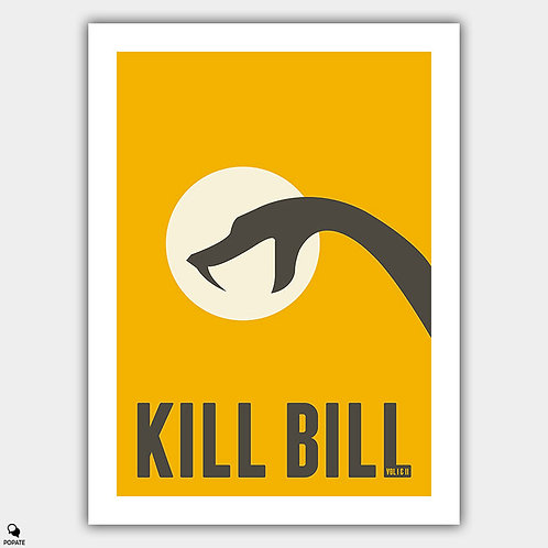 Kill Bill Minimalist Poster - Black Mamba