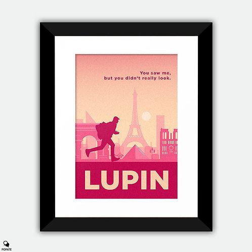 Lupin Minimalist Framed Print