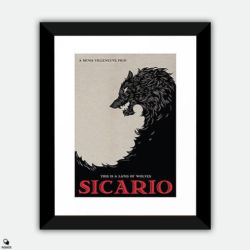 Sicario Alternative Minimalist Framed Print