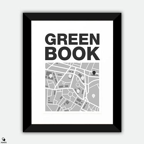 Green Book Minimalist Framed Print - Map