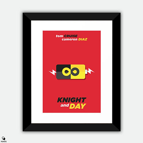 Knight and Day Minimalist Framed Print