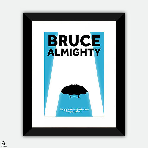 Bruce Almighty Minimalist Framed Print - IT'S GOOD