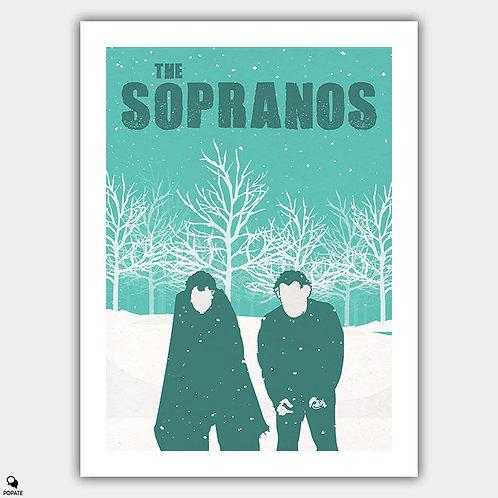 The Sopranos Minimalist Poster - Pine Barrens