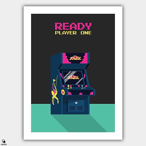Ready Player One Minimalist Poster - 80's Arcade