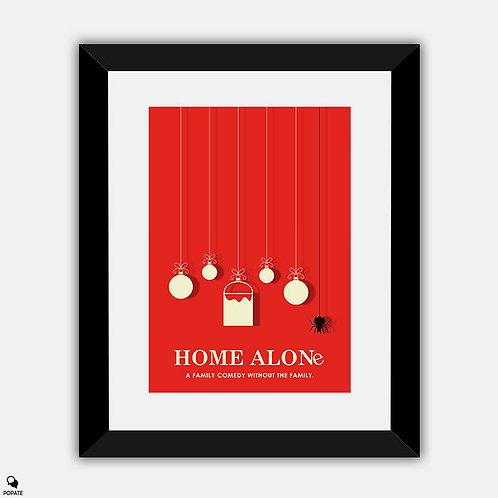 Home Alone Minimalist Framed Print - Christmas Ornaments