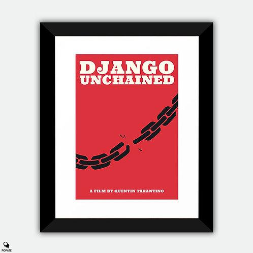 Django Unchained Minimalist Framed Print - Juneteenth