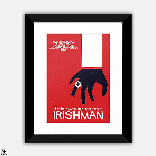 The Irishman Saul Bass style Vintage Framed Print - Three Rings