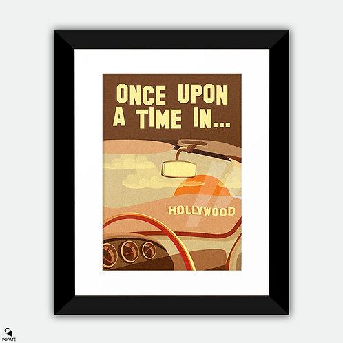 Once Upon A Time in Hollywood Alt Vintage Framed Print