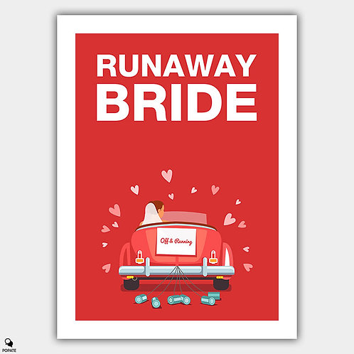 Runaway Bride Minimalist Poster - Off and Running