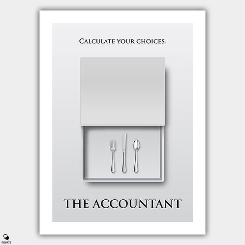 The Accountant Minimalist Poster