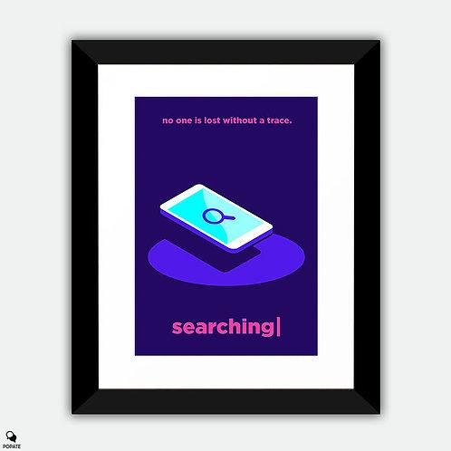 Searching Minimalist Framed Print