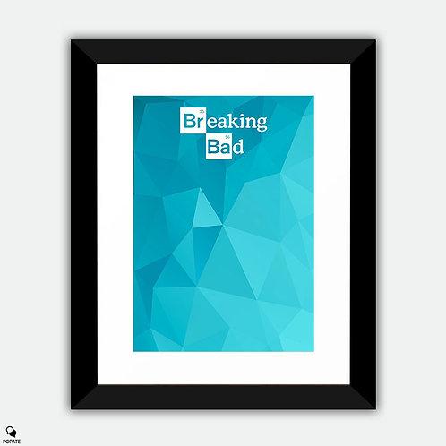 Breaking Bad Minimalist Framed Print - Blue Glass