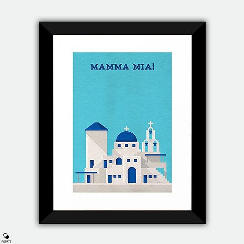 Mamma Mia Minimalist Framed Print