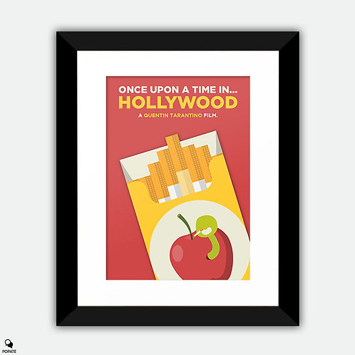 Once Upon A Time in Hollywood Alternative Framed Print - Red Apple
