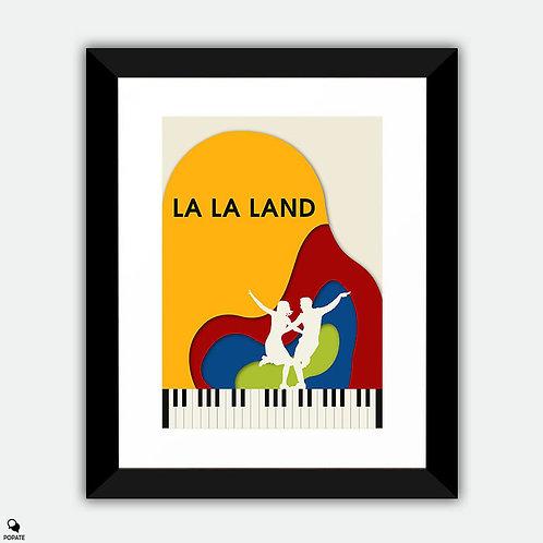 La La Land Minimalist Framed Print - Summer Montage