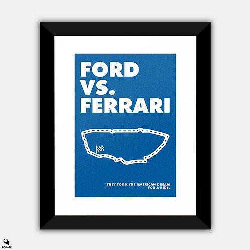 Ford Vs. Ferrari Alternative Framed Print - Ford