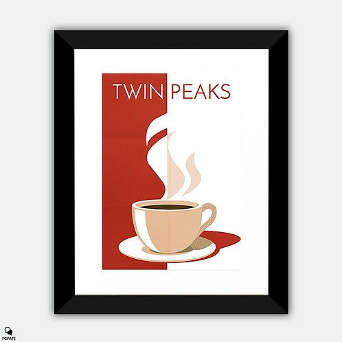 Twin Peaks Alternative Framed Print - Damn Good Cup Of Coffee