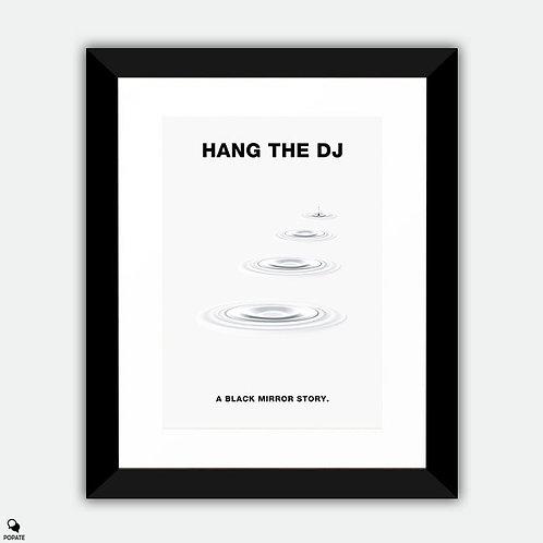 Black Mirror Minimalist Framed Print - Hang The DJ