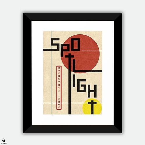 Spotlight Vintage Bauhaus Framed Print
