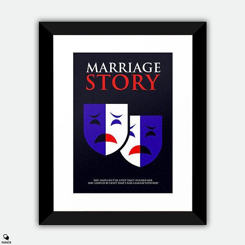 Marriage Story Minimalist Framed Print