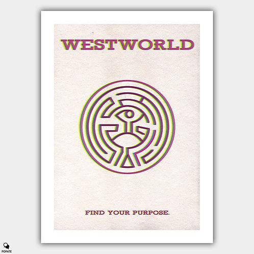 Westworld Minimalist Poster - The Maze